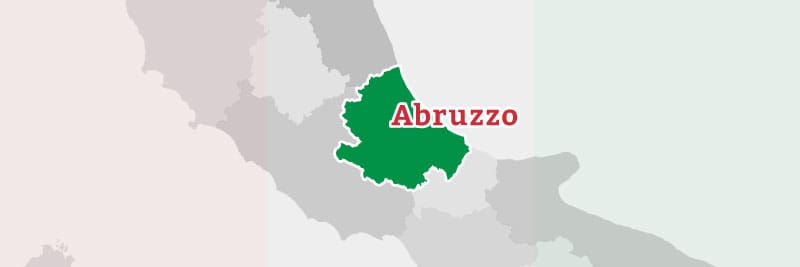 Map of the Abruzzo region