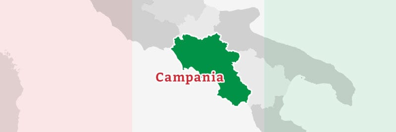 Map of the Campania region