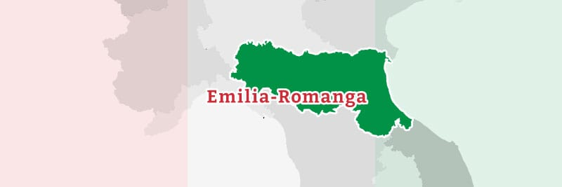Map of the Emilia-Romanga region