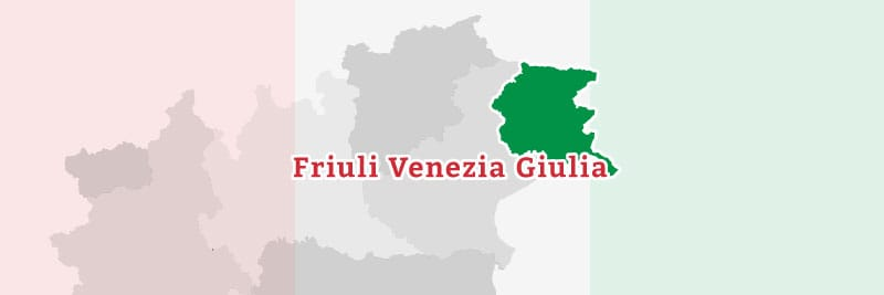 Map of the Friuli Venezia Giulia region