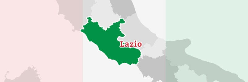 Map of the Lazio region.