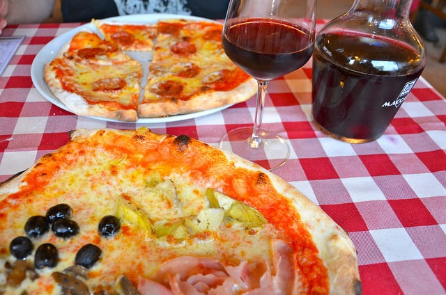 Pizza and Wine, the Perfect Match
